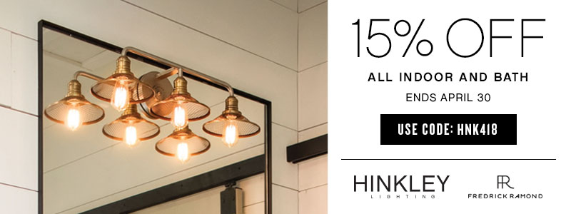 Hinkley Lighting & Fredrick Ramond | 15% OFF All Indoor & Bath Lighting