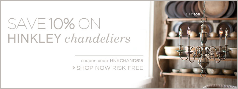 Save 10% on Hinkley Chandeliers!