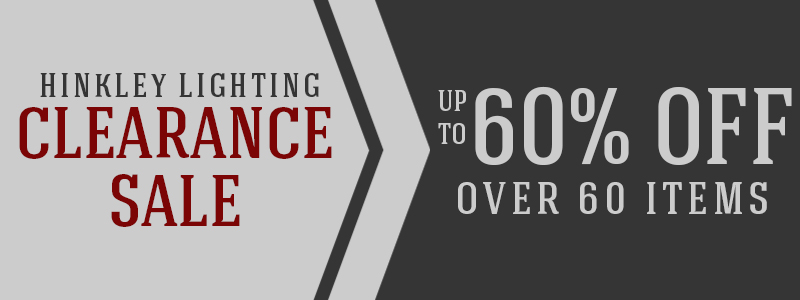 Save up to 60% on over 60 HINKLEY items!