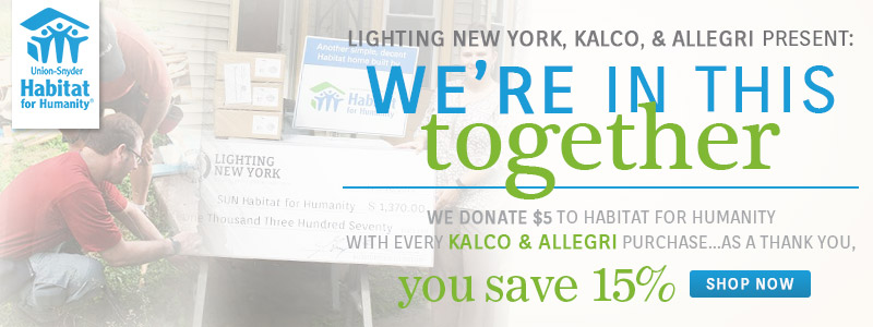 LNY, Kalco, & Allegri present: We're In This Together | Habitat for Humanity Savings