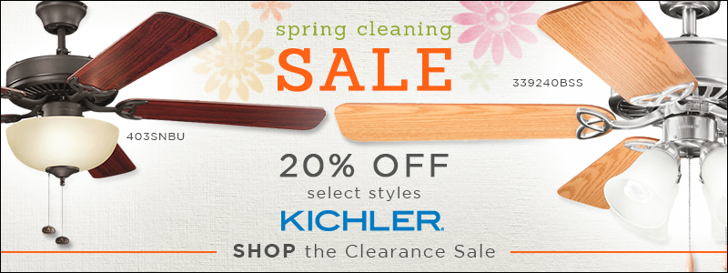 20% OFF select KICHLER LIGHTING!