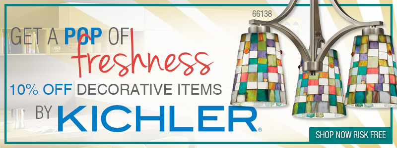 Get a pop of freshness to break up summer's heat wave! Save 10% on Decorative items by Kichler!