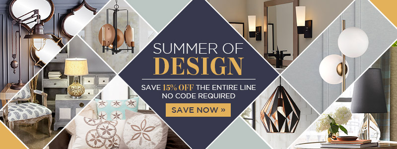 Summer of Design | Save 15% Off The Entire Line | No Code Required | Save Now