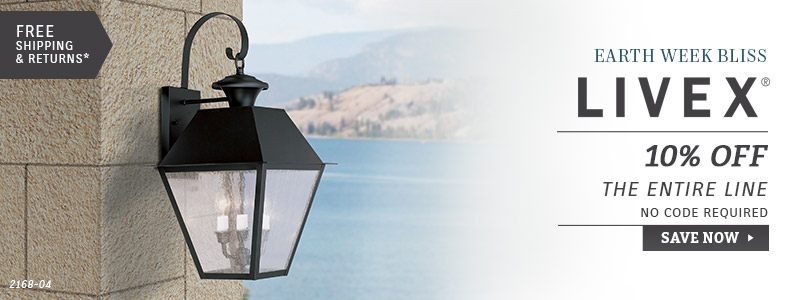 Livex Lighting | Earth Week Bliss | 10% OFF The Entire Line