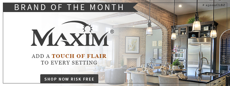 LNY's October BRAND OF THE MONTH, MAXIM LIGHTING!