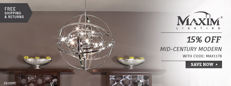 Maxim Lighting | 15% Off Mid-Century Modern Collections