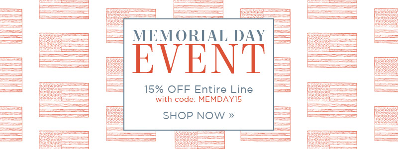 Memorial Day Event | 15% OFF Entire Line
