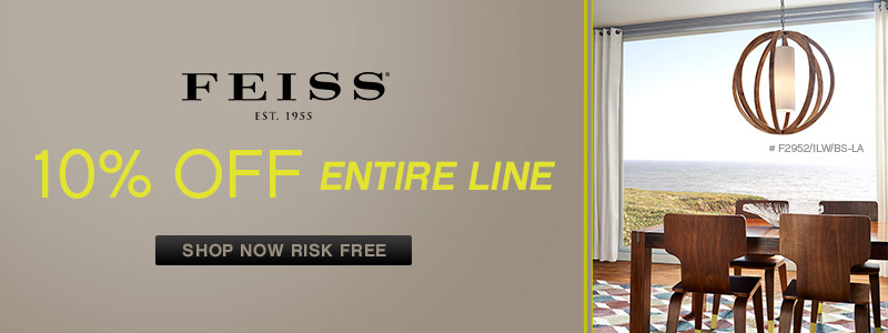 Feiss | 10% off the ENTIRE line!