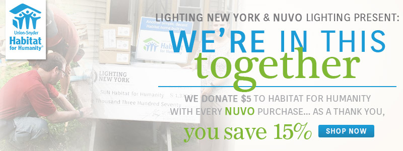 You SAVE 15% on NUVO | We Donate $5 to Habitat for Humanity!