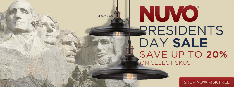Nuvo Presidents Day Sale! Save Up To 20% on Select Skus!