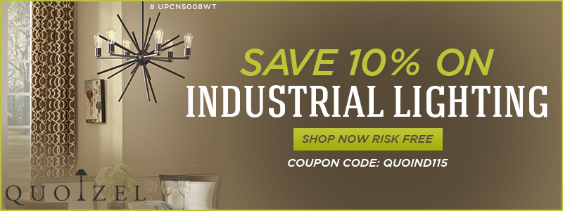 SAVE 10% on Quoizel INDUSTRIAL LIGHTING!