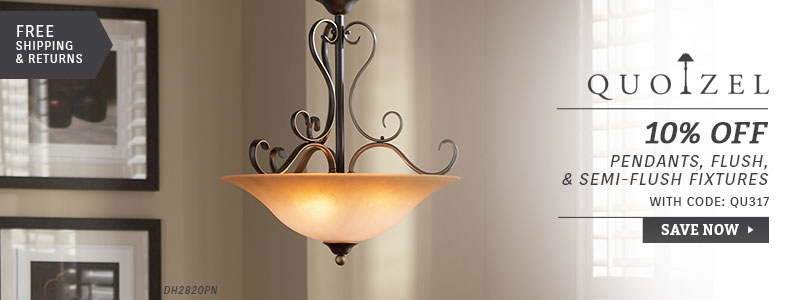 Quoizel | 10% Off Pendants, Flush, & Semi-Flush Fixtures
