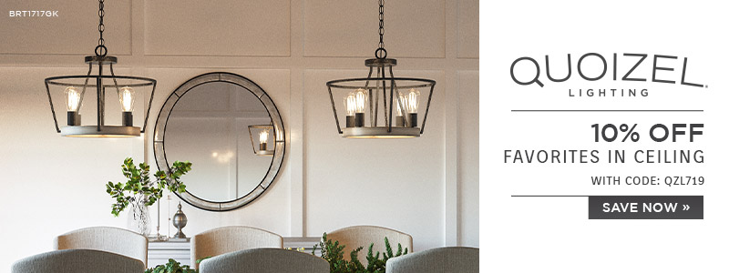 Quoizel Lighting | 10% Off Favorites in Ceiling | With Code: QZL719 | Save Now