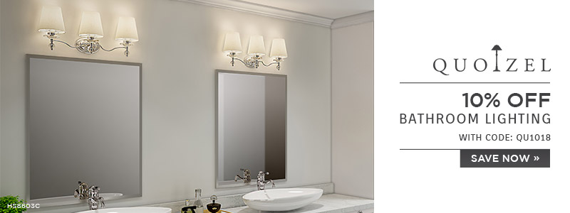 Quoizel | 10% OFF Bathroom Lighting | with code: QU1018