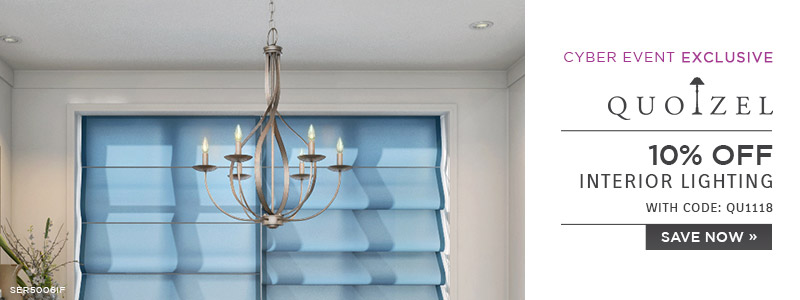 Quoizel | 10% OFF Interior Lighting | with code: QU1118