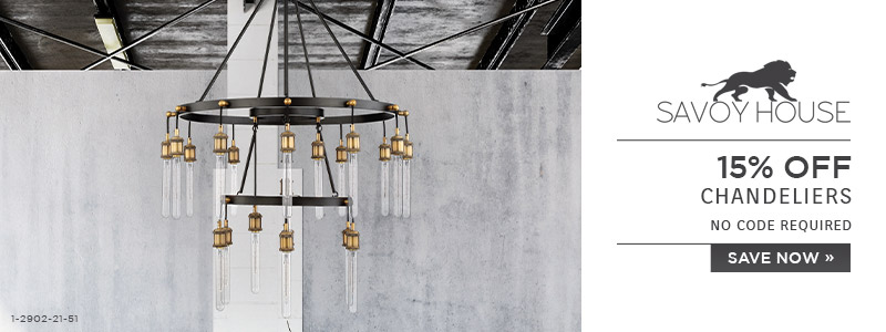 Savoy House | 15% OFF Chandeliers | no code required | Save Now