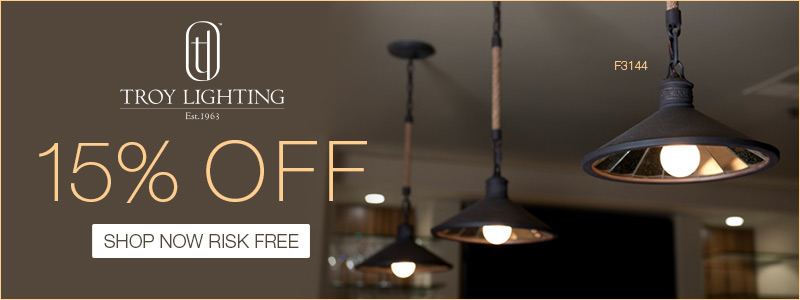 Troy Lighting | 15% off the Entire Line!