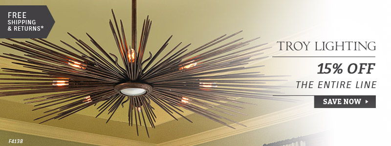 Troy Lighting | 15% Off Entire Line