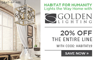 Habitat for Humanity Lights the Way Home with Golden Lighting | 20% Off the Entire Line | With Code: HABITAT19