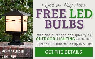 FREE LED BULBS with a qualifying Outdoor Lighting purchase!