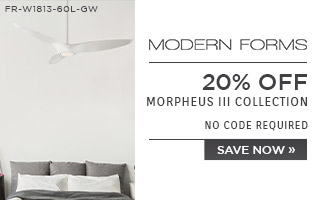 Modern Forms | 20% OFF Morpheus III Collection | no code required | Save Now