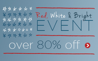 Save UP TO 80% off during LNY's RED, WHITE & BRIGHT Event!