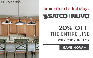 Home for the Holidays | Satco | Nuvo | 20% OFF The Entire Line | with code: HOLLY18 | Save Now