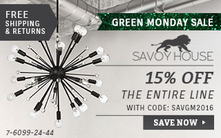 Savoy House | Green Monday Sale | 15% Off the Entire Line