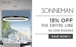 Sonneman | 15% OFF The Entire Line | no code required