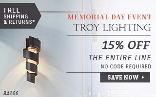 Troy Lighting | Memorial Day Event | 15% OFF The Entire Line