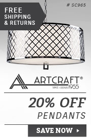 Artcraft | 20% Off Sconces & Bath