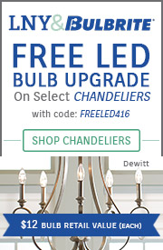 Free LED Bulb Upgrade on Select Chandeliers