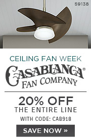 National Ceiling Fan Week | Casablanca Fan Co. | 20% OFF The Entire Line | with code: CAB918