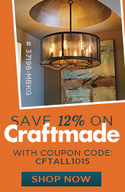 Craftmade | 12% off the ENTIRE line!