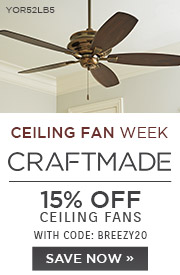 Ceiling Fan Week | Craftmade | 15% Off Ceiling Fans | With Code: BREEZY20 | Save Now