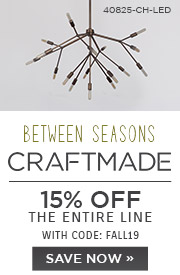 Summer of Design | Craftmade | 15% Off the Entire Line | With Code: FALL19 | Save Now