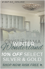 Crystorama Winter Wonderland, 10% off select Silver & Gold!