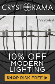 10% OFF Modern Lighting by CRYSTORAMA!