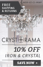 Crystorama | 10% Off Iron & Crystal