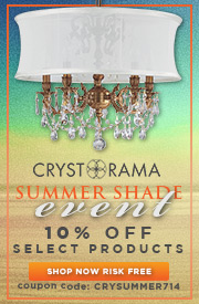 SUMMER SHADE EVENT! Save 10% on select Crystorama Products!