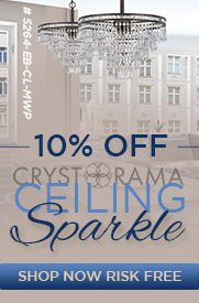 10% off CRYSTORAMA Ceiling Sparkle!