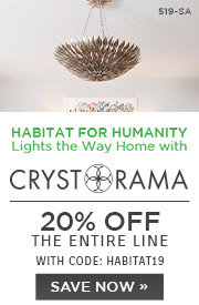Habitat for Humanity Lights the Way Home with Crystorama | 20% Off The Entire Line | with code: HABITAT19 | Save Now