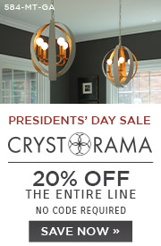 Presidents' Day Sale | Crystorama | 20% Off the Entire Line | No Code Required | Save Now