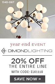 Dimond Lighting | 20% OFF The Entire Line | with code: ELK1118