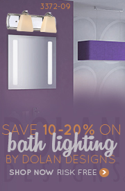 Save 10-20% on BATH LIGHTING by Dolan Designs!