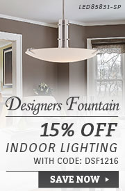 Designers Fountain | 15% Off Indoor Lighting