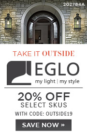 Take It Outside | Eglo | 20% Off Select Skus | With Code: OUTSIDE19
