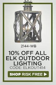 10% OFF ELK Outdoor Lighting!
