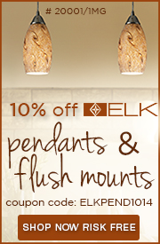 10% Off ELK PENDANTS & FLUSH MOUNTS!