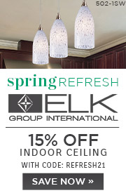 Spring Refresh | ELK Group | 15% Off Indoor Ceiling | With Code: REFRESH21 | Save Now